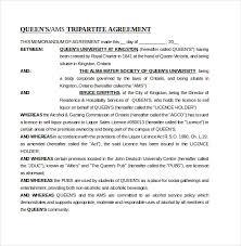 memorandum of understanding template letter of understanding