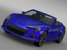 subaru sports car 2016 3d subaru brz zc6 cabrio 2015 cgtrader