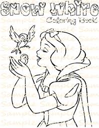 snow white party favor printable snow white coloring book