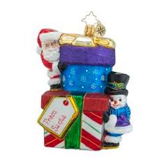 christopher radko ornaments radko snazzy stack packages gifts