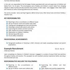 child care resumes examples child care resume samples example