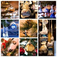decorations collage stock photo image of ornaments