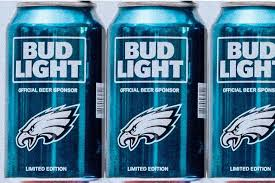 bud light beer can at least 38 000 cans of free bud light delivered for eagles super