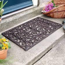 Unique Doormats Traditional Rectangular Outdoor Cast Iron Doormat By Dibor