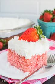 strawberry coconut poke cake inside brucrew life