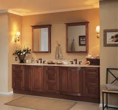 Decorating Bathroom Mirrors Ideas by Classic Bathroom Interior Feats Wooden Double Sink Vanity Also
