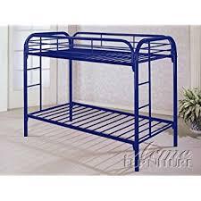 Amazoncom DHP Twin Over Twin Metal Bunk Bed Black Kitchen - Steel bunk beds