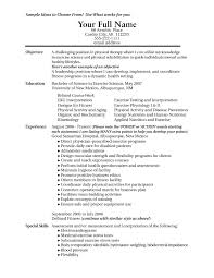 Sample Fitness Instructor Resume by Resume Examples For Fitness Instructor Cover Letter Resumes