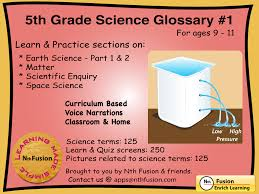 5th grade science glossary 1 ipad app learn and practice