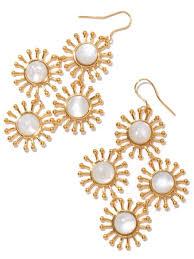 pearl chandelier earrings nest jewelry starburst of pearl chandelier earrings