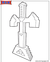 sword minecraft game coloring pages printable