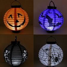 new halloween led paper pumpkin hanging lantern diy holiday party