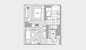 Hotel Suite Floor Plans One Bedroom Suites New York Trump Soho One Bedroom Suites In