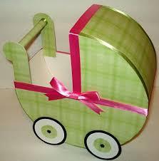 Carriage Centerpiece Preppy Pink U0026 Green Baby Carriage Centerpiece Gift Box