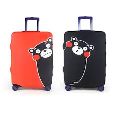 Indiana traveling suitcase images Cute bear elastic travel luggage protective cover personality jpg