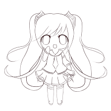 chibi coloring pages anime coloringstar