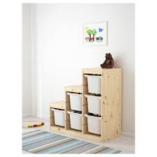 Pine Changing Table by Trofast Storage Combination Light White Stained Pine White