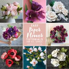 wedding flowers diy patterns and tutorials to make paper wedding flowers at home