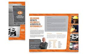 engineering brochure templates free manufacturing engineering tri fold brochure template design