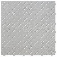 Modular Flooring Tiles Swisstrax 15 75 In X 15 75 In Pearl Silver Diamond Trax 25 Tile