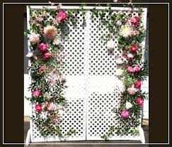 wedding backdrop lattice inventory architectural products for rent treasure chest relic