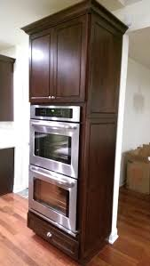 kraftmaid double oven cabinet with integrated decorative end