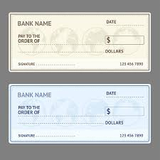 blank bank check template clip art vector images u0026 illustrations