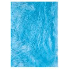 La Rugs La Rug Flokati Light Blue 3 Ft 3 In X 4 Ft 10 In Area Rug Flk