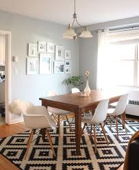 Modern Dining Room Rugs An Evolving Condo Design West Elm Set The Table Pinterest
