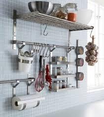 ikea ustensiles de cuisine rangement cuisine avec barre et étagères ikea
