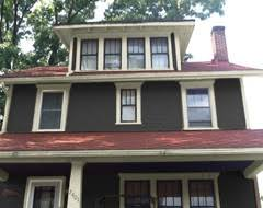 charcoal grey and ivory house exterior pinterest red roof