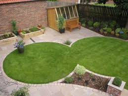 circular lawns create space for paving for our clients in