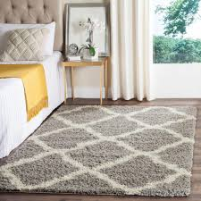 Yellow And Gray Rugs Safavieh Dallas Shag Gray Ivory 6 Ft X 9 Ft Area Rug Sgd257g 6