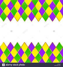 mardi gras frame green purple yellow grid mardi gras frame stock vector