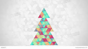 christmas tree shape of colorful triangles loop stock animation