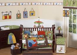 Crib Bedding Jungle Jungle Safari Monkey Giraffe Animal Theme Baby Boy Bedding