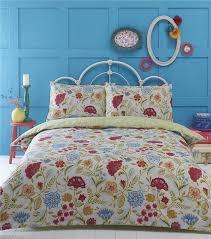 Bright Duvet Cover Double Duvet Cover Bed Set Bright Multi Colour Flower Art