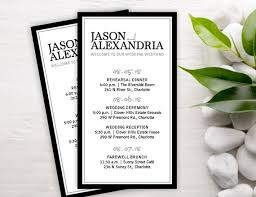 ceremony cards formal wedding itineraries 25 wedding schedule cards ceremony