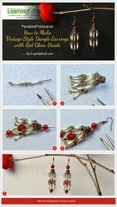 make dangle earrings pandahall original project on how to make flower dangle earrings