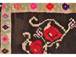 Rug Kilim Flower Kilim Rug Handwoven Rug Kilim Turkish Karabag Design
