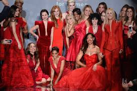 new york fashion week fall 2014 u0027s heart truth red dress collection