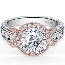 gold halo engagement rings kara pirouetta white gold halo engagement