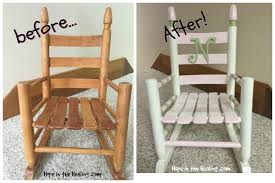 A Rocking Chair Vintage Toddler Rocking Chair Makeover Hope In The Healing With
