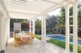 covered back porch designs back porch designs patio traditional with beam beige pergola