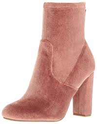 amazon com steve madden women u0027s brisk v ankle bootie blush