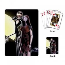 jack skellington the nightmare before christmas playing cards