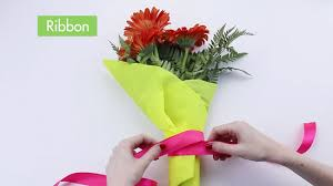 paper wrapped flowers how to wrap flowers with pictures wikihow