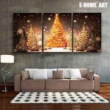 e home stretched led canvas print tree in the snow