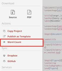 Count Word In Pdf Word Count Your Project Sharelatex