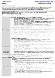 Email For Sending Resume To Hr Anshu Mahajan Resume H R Manager